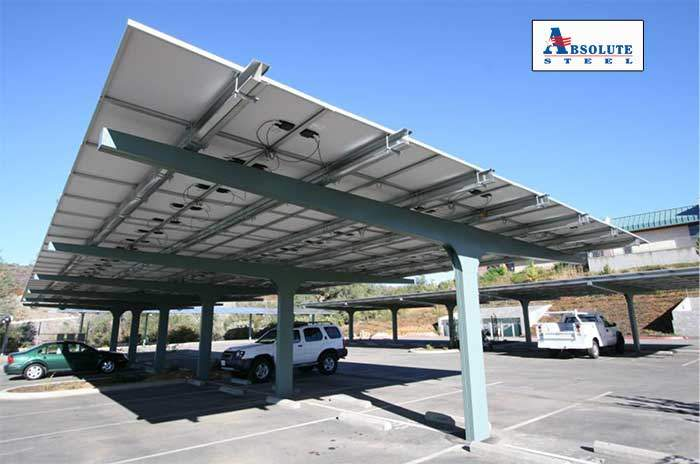 Parking lot carports style for Rv covered parking structures