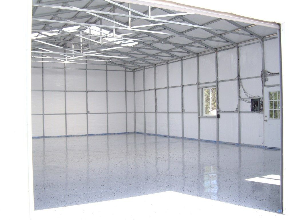 INTERIOR VIEW OF INSULATED GARAGE