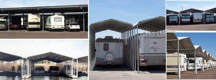 Covered Parking Systems For Boat And Rv Storage Facilities