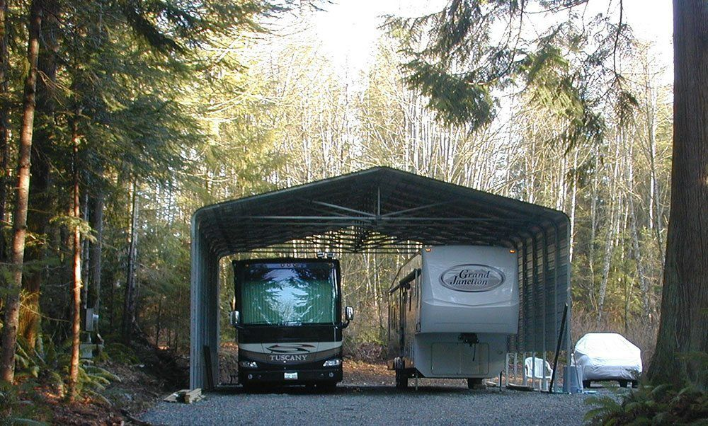 Camper Carports For Travel Trailers : Rv carports metal covers