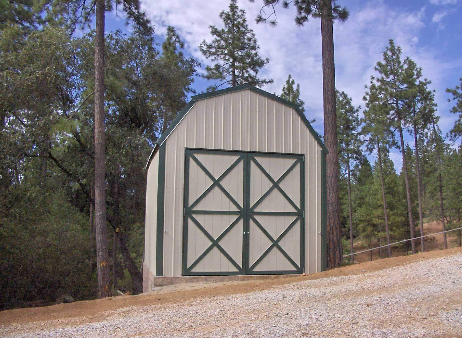 Small Gambrel Style Storage Building