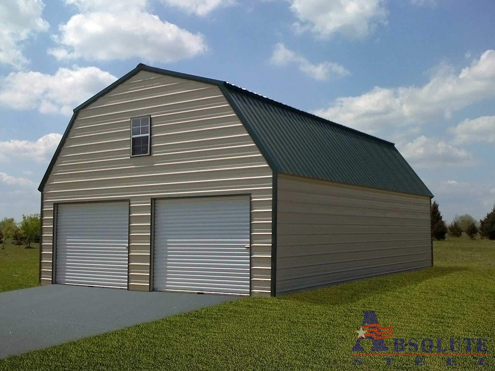 Gambrel barn steel building for Gambrel roof barn kits