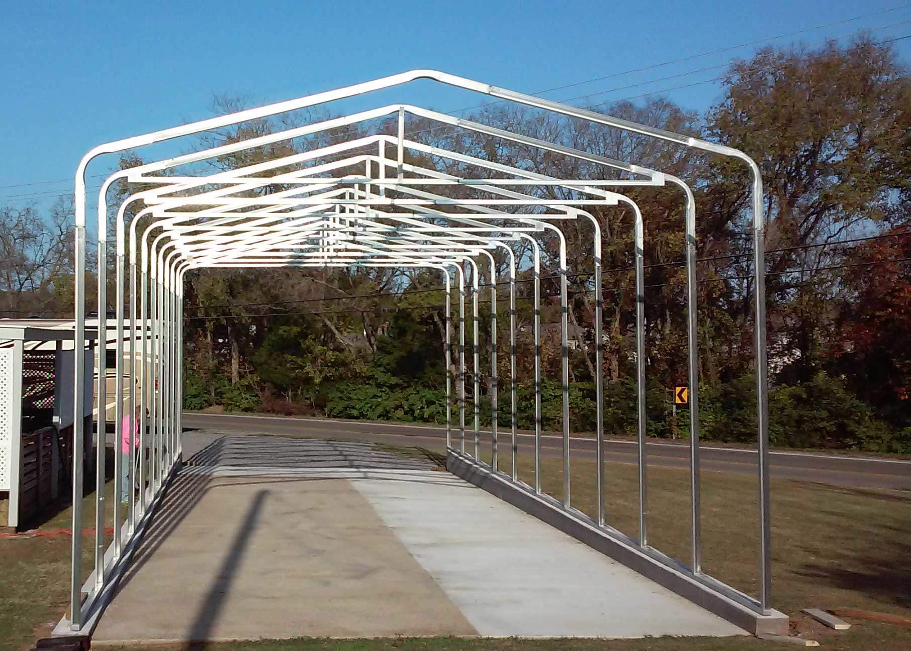 Slide the wall / truss units into the base rail. Your frame is done!