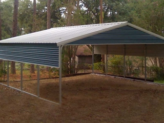 Mohave Carport with Gable End Panel