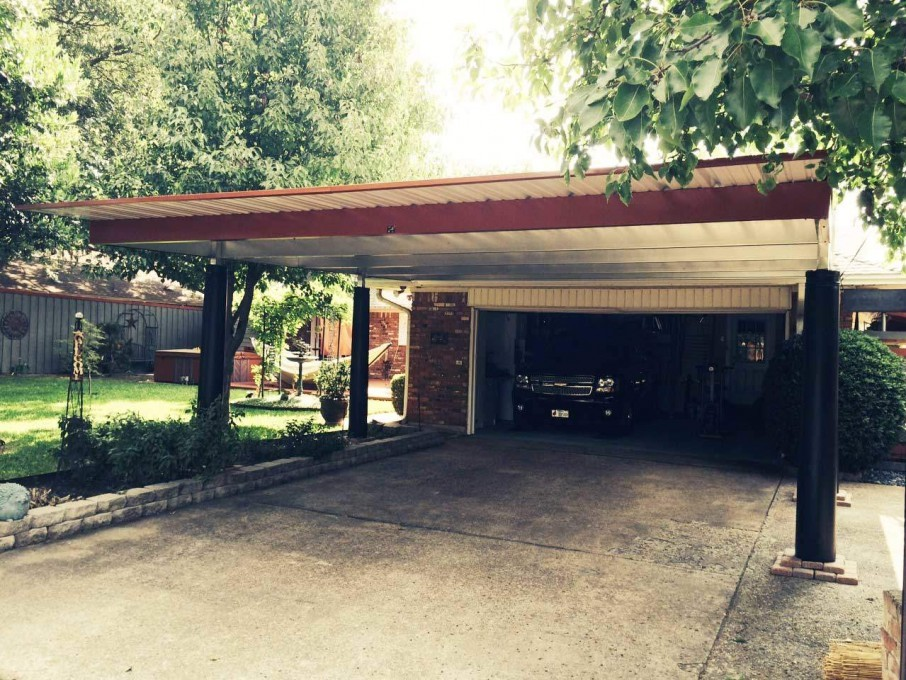Single Steel Carports : Steel single slope carport