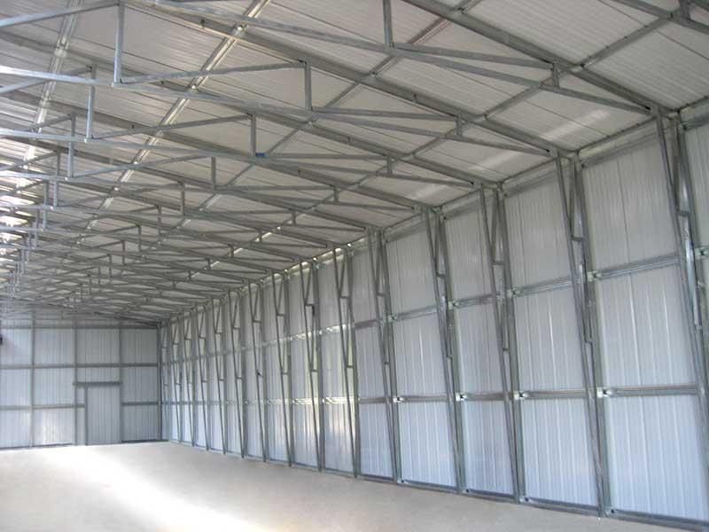 Metal building frame system