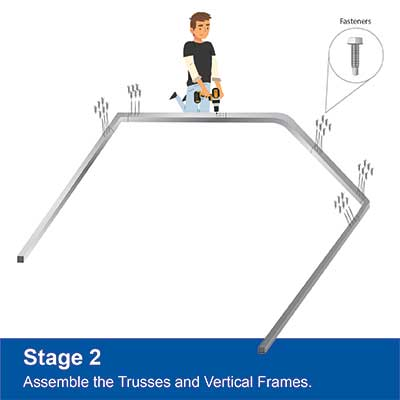 Step 2 - Assemble frame sections