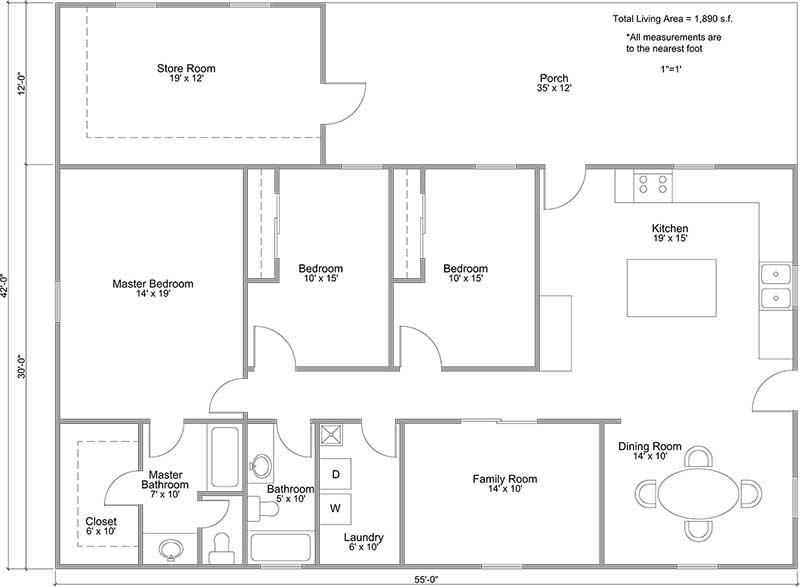 Farmersville Floorplan