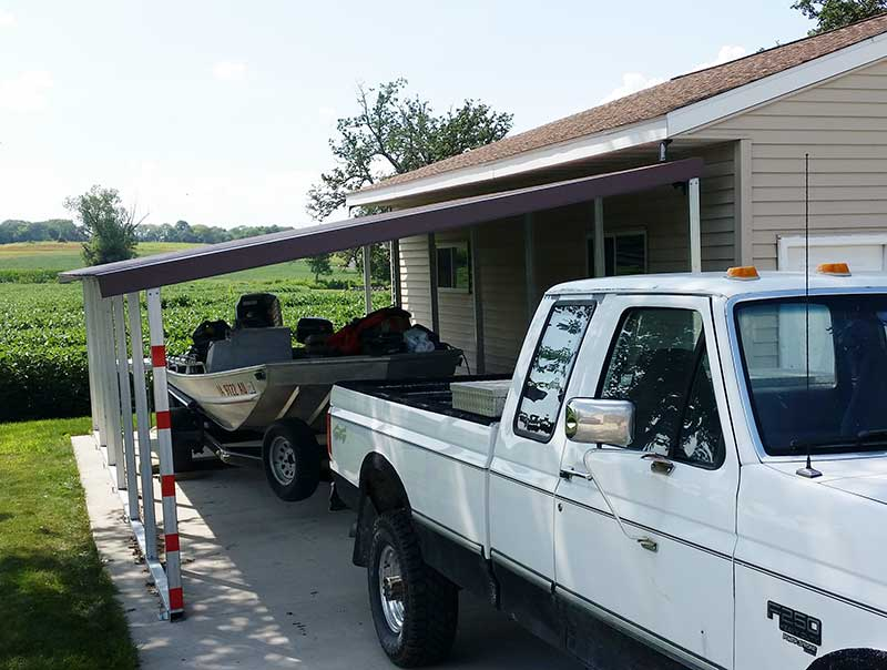 Carport Installation with Family